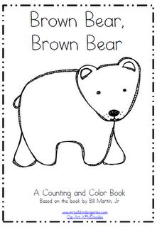 Brown Bear Brown Bear Emergent Reader Activity Available At Www