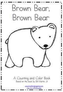 Peek At My Week Plus A FREEBIE Color UnitColour BookBrown BearsKindergarten