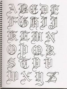 New Tattoo Fonts Calligraphy Alphabet Scripts Ideas Tattoo Fonts Alphabet, Tattoo Lettering Fonts, Hand Lettering Alphabet, Graffiti Alphabet, Lettering Styles, Lettering Guide, Typography, Grafitti Letters, Graffiti Lettering Fonts