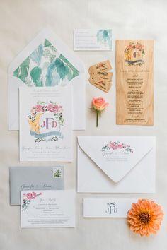 Floral Watercolor Wedding Invitations | Brides.com