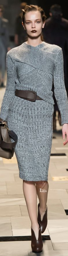 Trussardi Fall Winter 2015-16 RTW.  The top of this ravelry pattern mimics this top. picking up stitches for the body might give a similar look: http://www.ravelry.com/patterns/library/criss-cross-shrug-2