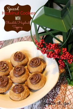 ... it. Go!: Spiced Hazelnut Cookies with Chocolate Hazelnut Topping