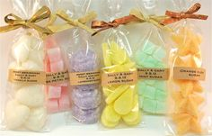 50 Favors Flavored Sugar Cubes- Wedding, Tea Party, Bridal Shower, Baby Shower Mini Favor Bags. $235.00, via Etsy.