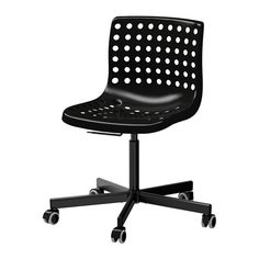 SKÅLBERG / SPORREN Swivel chair - black, - - IKEA $40 . . for nail techs and/or receptionist . . (also can come in blue and black)