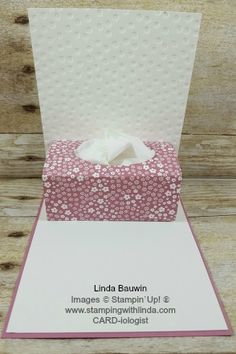 #tissueboxcard #creativefoldcard #lindabauwin