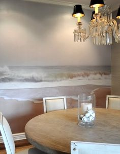 photo wallpaper in dining room- from a personal photo, and scaled by a company called Duggal