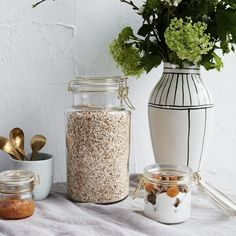 Sada 3 ks − Úložná dóza Glass Storage Containers, Jar Storage, Bookkeeping And Accounting, House Doctor, Kitchen Accessories, Home Decor, Cookware Accessories, Interior Design, Home Interiors