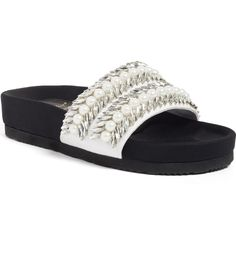 Main Image - Suecomma Bonnie Imitation Pearl & Crystal Embellished Slide Sandal (Women)