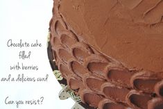 Hoje para jantar ...: Bolo de aniversário - Bolo de chocolate com curd e molho de frutos vermelhos