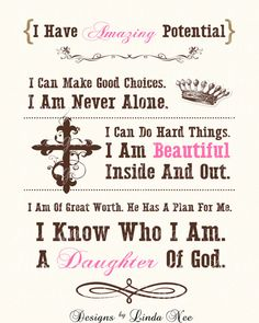 Printable DAUGHTER of GOD Typography Subway by DesignsbyLindaNee, $8.00