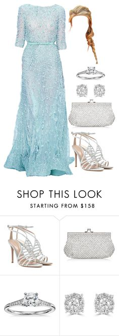 """Untitled #3754"" by natalyasidunova ❤ liked on Polyvore featuring Elie Saab, Gianvito Rossi, Monsoon, Blue Nile and Effy Jewelry"