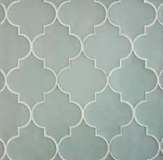 Arabesque - tiles by Edgewater Studio I like this bluish-grey color. Master bath.