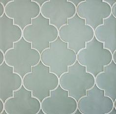 Arabesque - tiles by Edgewater Studio I like this bluish-grey color. Master bath.