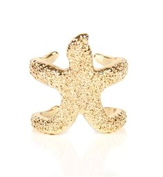 Gold Star Fish Ring from Windsor. Saved to Accessories. Fish Ring, Windsor Store, Nautical Fashion, Nautical Style, Nail Accessories, Gold Stars, Ring Earrings, Starfish, Spice Things Up
