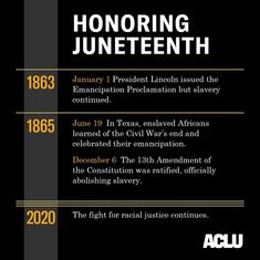 """83.4 k gilla-markeringar, 341 kommentarer - ACLU (@aclu_nationwide) på Instagram: """"Happy Juneteenth! We honor this day by working in solidarity with all those fighting for racial…"""" Fight The Power, Glowing Face, Business Organization, Social Change, Civil Rights, Constitution, Social Justice, Teaching"""