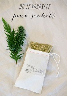SMP At Home: DIY Pine Sachets | Style Me Pretty