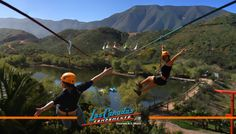 Visit Las Cañadas Campamento and take the Las Cañadas Canopy tour to live the adventure of flying along 5 different ziplines, two of them over a quarter mile long. You'll also enjoy 5 hanging bridges for a unique experience. If you are visiting Ensenada, Ensenada Baja California, Baja California Mexico, Best Places To Camp, Places To See, Cruise Vacation, Vacation Spots, Honeymoon Cruise, Ensanada Mexico, Travel Around The World