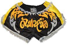 NJ FIGHT SHOP - Retro Muay Thai Short - Black/Gold/Silver, $34.95 (http://www.njfightshop.com/retro-muay-thai-short-black-gold-silver/)