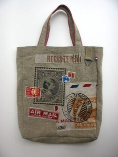 Dutch design, handmade bag! Love it! Postbag  Www.oplage1.nl