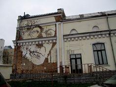 Gemeißeltes Portrait in Moskau