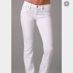 White GUESS jeans Beautiful in mint condition white GUESS jeans.  No stains!!  Size 30.  Love the way they fit on butt.....unfortunately they are too big now.  Only worn a couple times.  Freshly laundered.  First pic for inspiration only!!  Bundle & save!!! Guess Pants Boot Cut & Flare