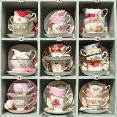 Vintage Teacup Trios, Teacups, Saucers, Tea Plates