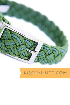Kiss My Mutt® Central Park Two-Toned Braided Collar. www.kissmymutt.com