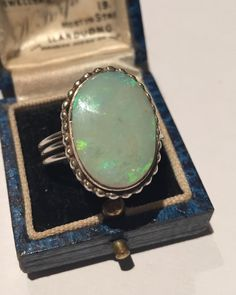 A personal favourite from my Etsy shop https://www.etsy.com/listing/234824946/a-stunning-vintage-silver-opal-ring