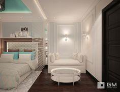 Дизайн-проект трехкомнатной квартиры на ул. Абрамцевская. Спальня дочери