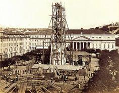Rossio, construção do monumento a D.Pedro IV, séc XIX