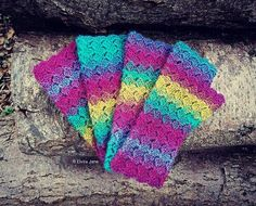 "Crochet Fingerless Gloves ~ designed and handmade by © Elvira Jane.  Find this pattern in my Etsy shop ""ElviraJaneQ"""
