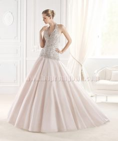 fashionweddingdresses.net | Coming Soon | Follow Us | Beaded Halter Wedding Gowns 2015 La Sposa Style ERINNA [La Sposa ERINNA] ✿ ☻  ☻ ✿