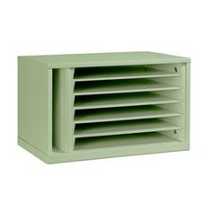 Martha Stewart Living Craft Space 5-Compartment Paper Organizer in Rhododendron Leaf-0463610600 - The Home Depot
