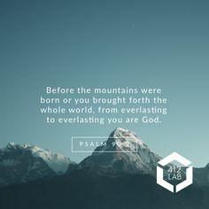 Psalm 90:2 #churchgraphics #churchcomm