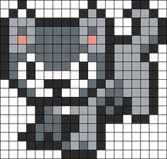 Kandi Patterns for Kandi Cuffs - Animals Pony Bead Patterns Melty Bead Patterns, Pearler Bead Patterns, Kandi Patterns, Perler Patterns, Beading Patterns, Perler Beads, Fuse Beads, Pixel Art Templates, Perler Bead Templates