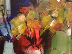 Paardebloemen, ( detail ) acryl Diana Mol