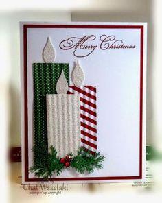 23 creative ways to make Christmas cards - Karten basteln - Weihnachten Homemade Christmas Cards, Stampin Up Christmas, Christmas Cards To Make, Christmas Tag, Christmas Humor, Homemade Cards, Christmas Decorations, Christmas Candles, Cute Diy Xmas Cards