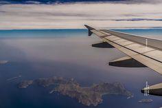 Tilos island, air view.