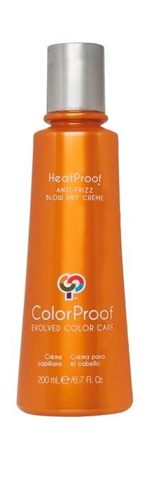 HeatProof Anti-Frizz Blow Dry Creme. Meet the next generation in frizz-fighting. This breakthrough weather-resistant, heat protective creme leaves defiant, flyaway, color-treated hair super soft, glossy and vibrant-no matter how many times you reach for the flat iron.