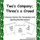 Two's Company; Three's a Crowd is an activity designed to give students practice with recognizing compound words or words that go together.
