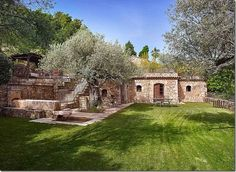 Why buy a mansion when you can buy a whole village?Johnny Depp is actively selling one in the south of France, and no, he hasn't been suckered into a real estate con; Tuscan Style, Mediterranean Style, Johnny Depp, Provence, Belle France, Vanessa Paradis, Stone Houses, South Of France, Acre