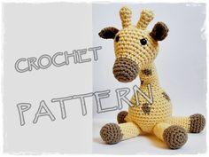 Amigurumi Pattern Crochet Giraffe pdf. $4.75, via Etsy.