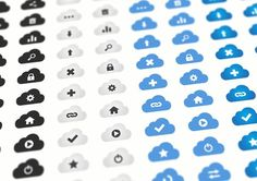 20 Cloud Vector Icons by Dreamstale on @creativemarket