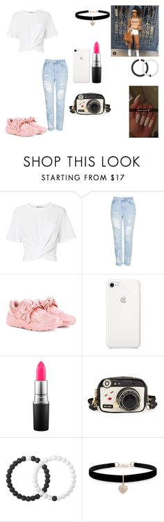 """in school bored af"" by thenewclassic-278 on Polyvore featuring T By Alexander Wang, Topshop, Puma, MAC Cosmetics, Betsey Johnson and Lokai"