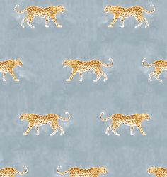 Ever since watercolor artist Caitlin McGauley debuted her wallpaper collection for Studio Four NYC, I've been dreaming about a Wes Anderson-esque leopard-print powder room (after all, Lena Dunham h...