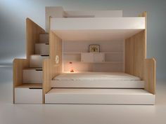 Small Room Bedroom, Small Rooms, Home Bedroom, Kids Bedroom, Kids Room Design, Bed Design, Casa Wendy, Toddler House Bed, Loft Bed Plans