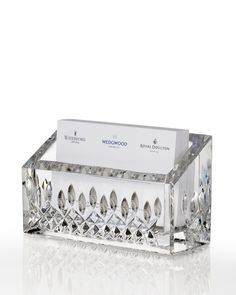 Waterford Lismore Business Card Holder - Horchow
