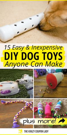 Homemade Dog Toys, Diy Dog Toys, Best Dog Toys, Pet Toys, Diy Animal Toys, Diy Rope Toys For Dogs, Diys For Dogs, Toys For Bored Dogs, Stimulating Dog Toys