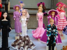 Weird - Hand knit outfits for barbies, found in Buenos Aires Argentina