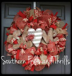 Check out this item in my Etsy shop https://www.etsy.com/listing/216848418/valentines-day-wreath-valentines-day